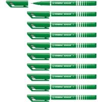 STABILO SENSOR 189 FINELINER GREEN PENS 0.3MM LINE WIDTH - BOX OF 10