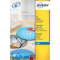AVERY J8676-25 FULL FACE INKJET CD LABELS 117MM DIAMETER - PACK OF 25