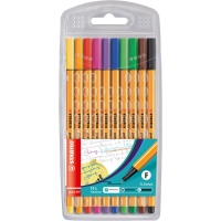 PK10 STABILO POINT 88 FINELINER ASSORTED