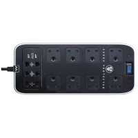MASTERPLUG POWER CENTRE SURGE PROTECTOR 8-WAY + 2 USB + TELECOM
