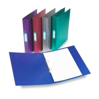 REXEL METALIX PURPLE A4 2 O-RING BINDERS - BOX OF 10