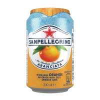 SAN PELLEGRINO ORANGE SPARKLING FRUIT BEVERAGE 330ML - PACK OF 24