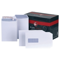 PLUS FABRIC C5 WINDOW WHITE ENVELOPES - BOX OF 250