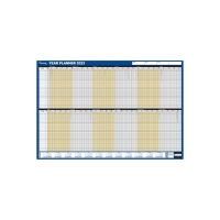 LYRECO UNMOUNTED STAFF YEAR PLANNER - 915 X 610MM