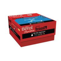 BEROL FELT TIP PENS BROAD ASSORTED COLOURS - BOX OF 288
