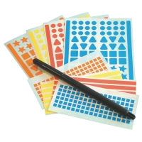 ADHESIVE SHAPES AND PEN
