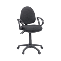 ORIGIN MEDIUM BACK OPERATORS CHAIR WITH ARMS - BLACK