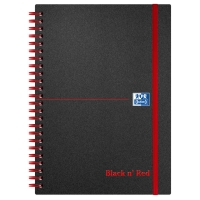 BLACK N RED A5 ELASTIC PP NOTEBOOK RULED 90GSM - 70 SHEETS