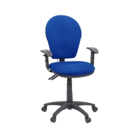 GL6 HIGH BACK OPERATORS CHAIR WITH INFLATABLE LUMBAR - BLUE