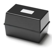 BLACK 203 X 127MM CARD INDEX BOX