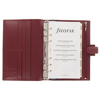 FILOFAX CLASSIC STITCHED ITALIAN LEATHER ORGANISER - CHERRY
