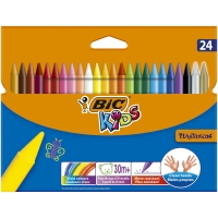 BIC KIDS PLASTIDECOR CRAYONS - WALLET OF 24