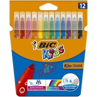 BIC KIDS COLOUR MEDIUM FELT PENS - PACK OF 12