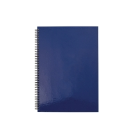 LYRECO HARD BACK TWIN WIRE NOTEBOOK A5 - PACK OF 5