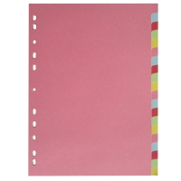 LYRECO BUDGET CARDBOARD DIVIDERS 20-PART A4 PASTEL