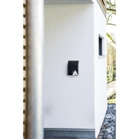DURABLE WALL MOUNTED ASH BIN BLACK