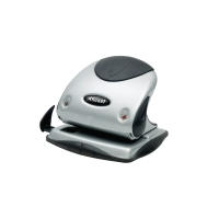 REXEL PREMIUM 2 HOLE PUNCH SILVER / BLACK