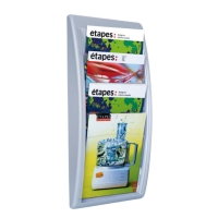 PAPERFLOW 4061.35 WALL DISPLAY A4 SILVER