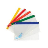 CLEAR A5+ ZIP BAGS - PACK OF 25