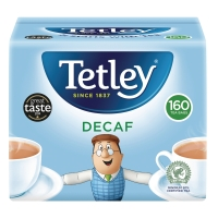 TETLEY DECAFFEINATED TEA BAGS - PACK OF 160
