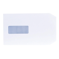 LYRECO ENVELOPES C5 90 G 100 PERCENT RECYCLED WINDOW WHITE - BOX OF 500