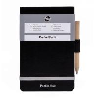 PUKKA POCKET NOTEBOOK 130 X 85 MM RULED SILVER / BLACK - PACK OF 6
