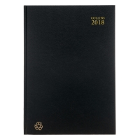 COLLINS ECO 100 PERCENT RECYCLED A5 DIARY BLACK - WEEK TO VIEW