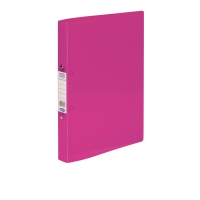 ELBA SNAP TRANSLUCENT PINK A4 2 O-RING POLYPROPYLENE BINDER