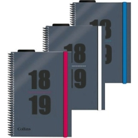 COLLINS DELTA ACADEMIC DIARY ASSORTED A5 - PAGE A DAY