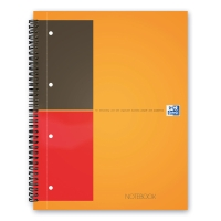 OXFORD INTERNTNL WHITE A4 WIREBOUND NOTEBOOK (RULED/PERFORATED) - 80 SHEET BOOK