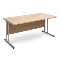 MODULARr C FRAME STRAIGHT DESK BEECH 1400mm