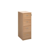 TRIOS WOODEN FILING CABINET 4 DRAWER BEECH