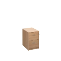 TRIOS WOODEN FILING CABINET 2 DRAWER BEECH