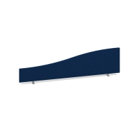 DESK MOUNTED ACOUSTIC SCREEN 500/350 X 1600MM ROYAL BLUE