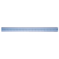 PLASTIC RULER 45CM / 18 INCHES CLEAR