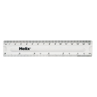PLASTIC RULER 15CM / 6 INCHES CLEAR