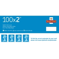 2ND CLASS POSTAGE STAMPS - PACK OF 100