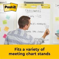 POST-IT SUPER STICKY MEETING CHART PLAIN WHITE PAPER - PACK OF 6
