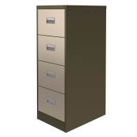 CONTRACT MIDI FILING CABINET 4 DRAWER COFFEE / CREAM