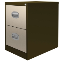CONTRACT MIDI FILING CABINET 2 DRAWER COFFEE / CREAM