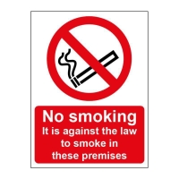 ILLEGAL TO SMOKE SIGN 150 X 200MM VINYL