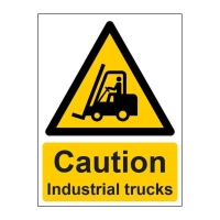 INDUSTRIAL TRUCKS SIGN 150 X200MM VINYL