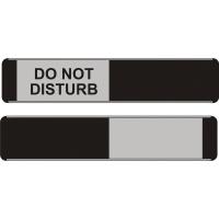 SLIDING DOOR SIGN DO NOT DISTURB / BLACK 52 X 255MM