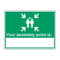 NEAREST ASSEMBLY POINT SIGN 200 X 150MM VINYL