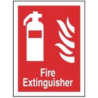 FIRE EXTINGUISHER SIGN 150 X 200MM VINYL
