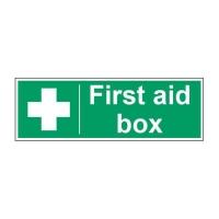 FIRST AID BOX SIGN 100 X 300MM VINYL