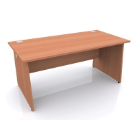 CLOUD BASE PANEL END OAK DESK 1600MM