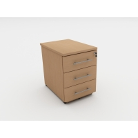 CLOUD BASE PEDESTAL 3 DRAWER OAK