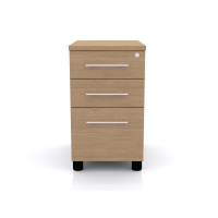 CLOUD BASE PEDESTAL 600MM DESK END OAK