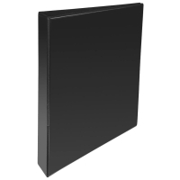 BLACK A4 2 D-RING PRESENTATION BINDER 25MM